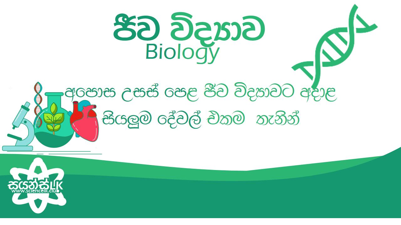 a/l biology sinhalen